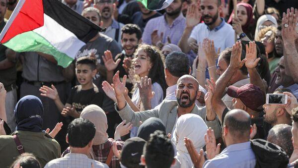 Protestations à Ramallah  - Sputnik France