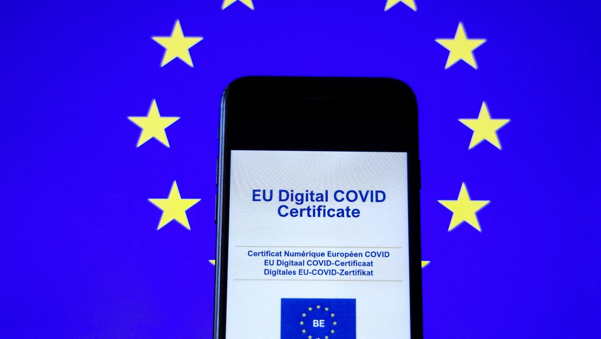 Certificat Covid numérique européen - Sputnik France, 1920, 17.08.2021