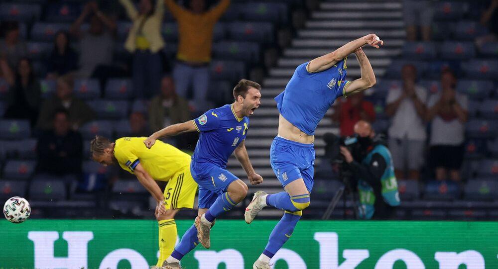 L'Ukraine s'est qualifiée pour les quarts de finale de l'Euro en battant la Suède à Glasgow, le 29 juin 2021