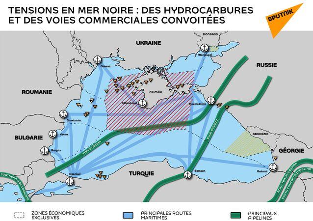Tensions en Mer noire : des hydrocarbures et des voies commerciales convoitées