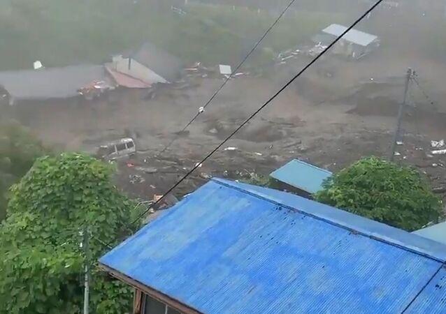 Glissement de terrain à Atami, au Japon