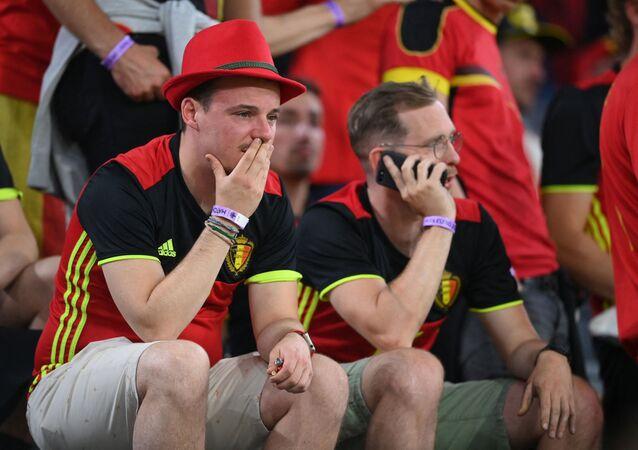 Des supporters belges