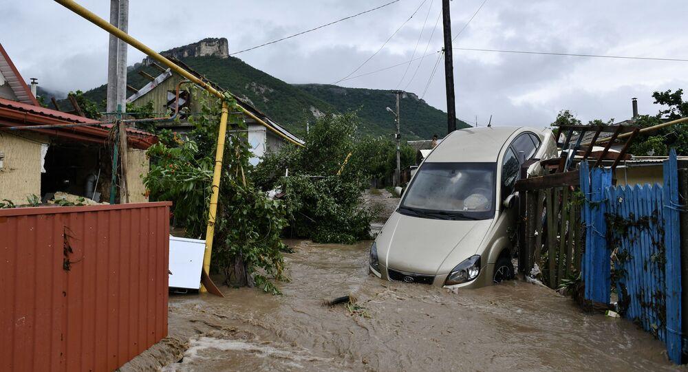 Les conséquences des pluies torrentielles en Crimée