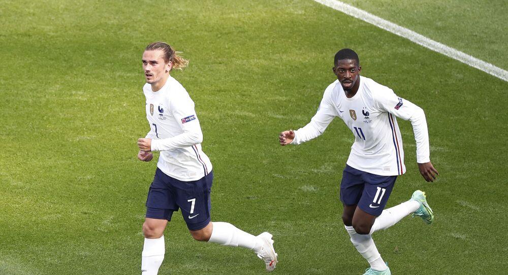 Antoine Griezmann et Ousmane Dembélé, le 19 juin 2021
