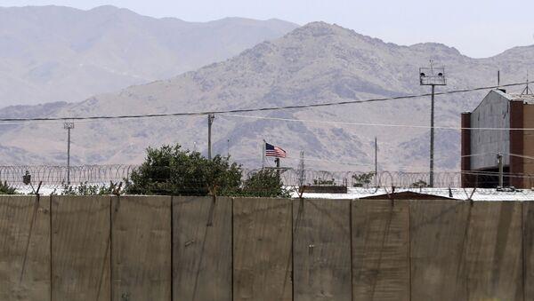 Drapeau américain sur la base aérienne de Bagram, en Afghanistan - Sputnik France