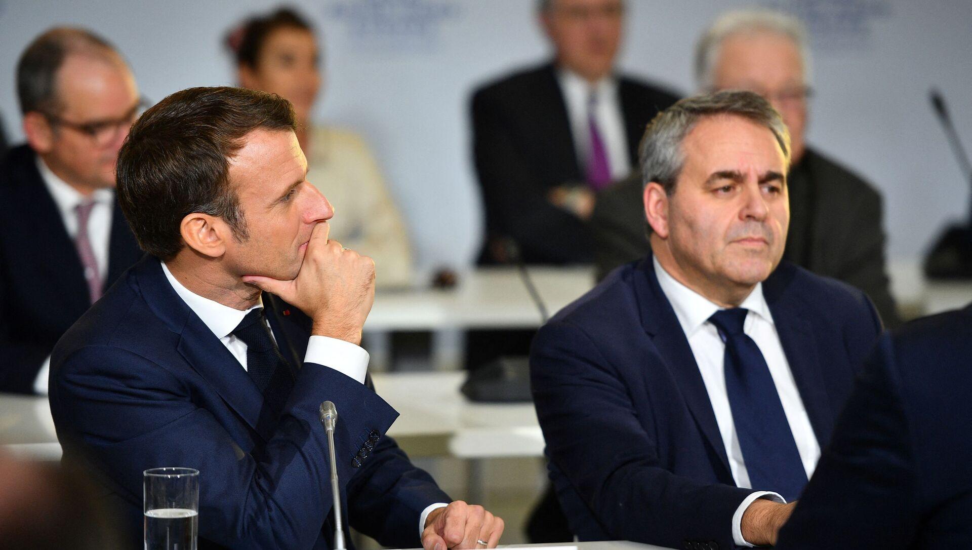 Emmanuel Macron et Xavier Bertrand - Sputnik France, 1920, 22.08.2021