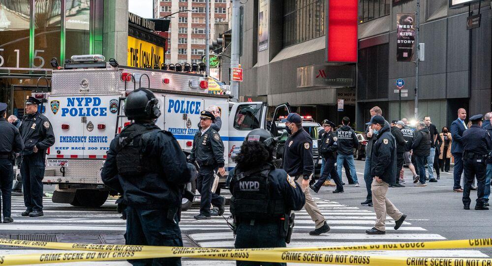 La police sur les lieux d'une fusillade à New York (archive photo)