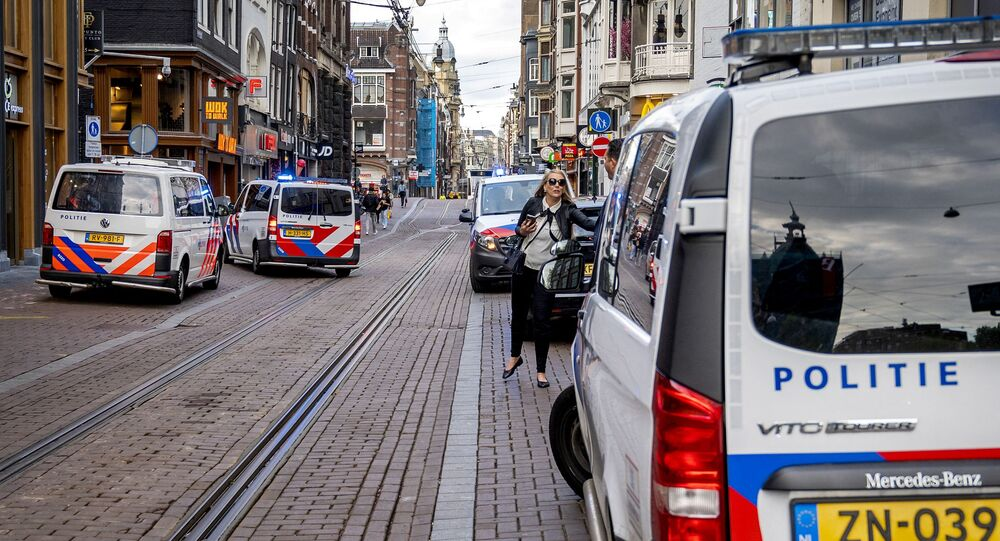 Sur les lieux de l'attaque contre Peter R. de Vries à Amsterdam