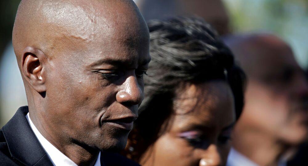 Jovenel Moïse et sa femme, le 12 janvier 2010 (photo d'archives)