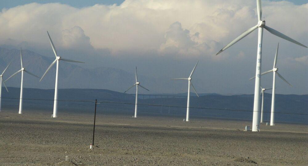 Un parc éolien en Chine (archive photo)