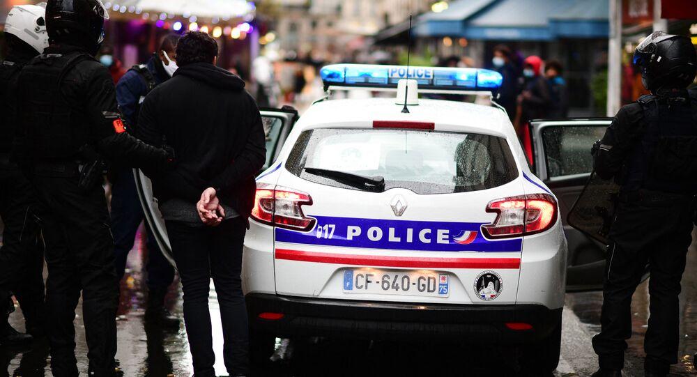 Voiture de police à Paris