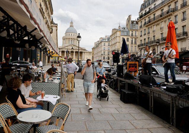 Rue Soufflot, à Paris, le 21 juin 2021