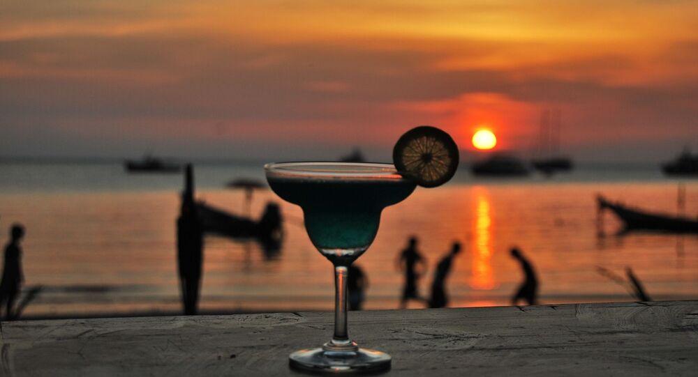 Une fête sur la plage