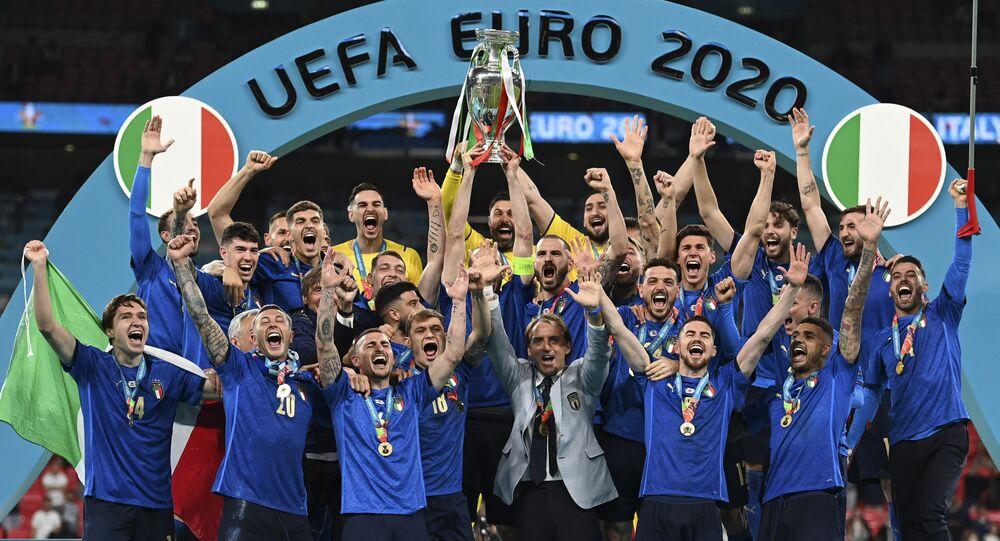 L'équipe d'Italie, vainqueur de l'Euro 2020