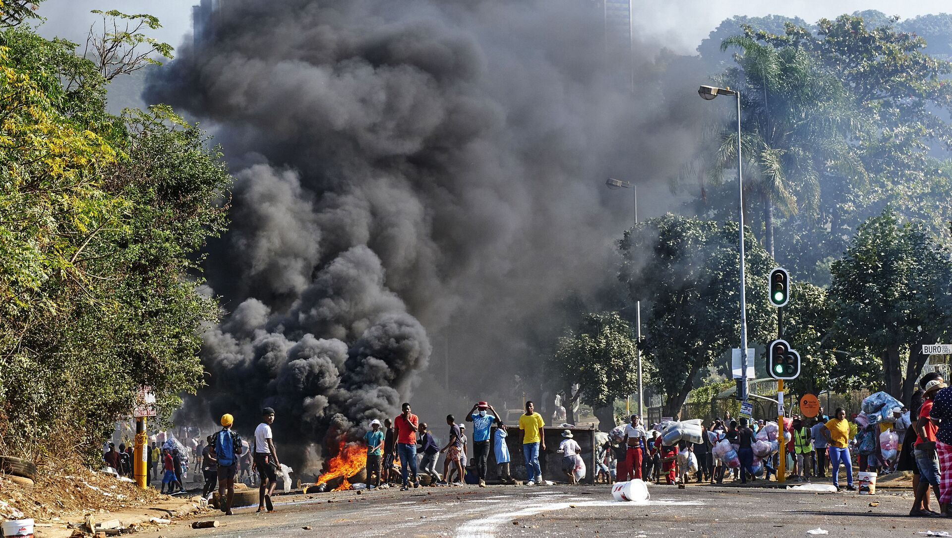 Les émeutes et les violences. Durban. Afrique du Sud. - Sputnik France, 1920, 23.07.2021