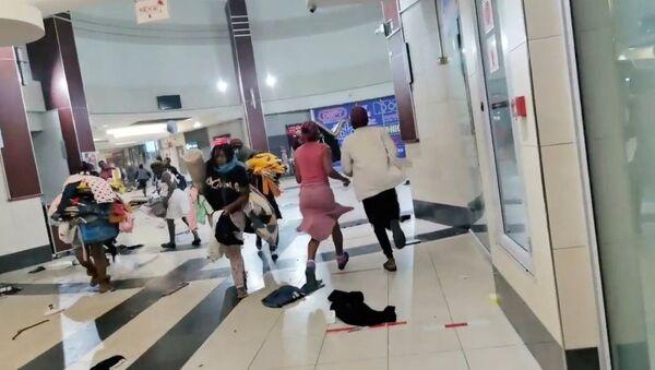 Les pillages des centres commerciaux.  Afrique du Sud. - Sputnik France