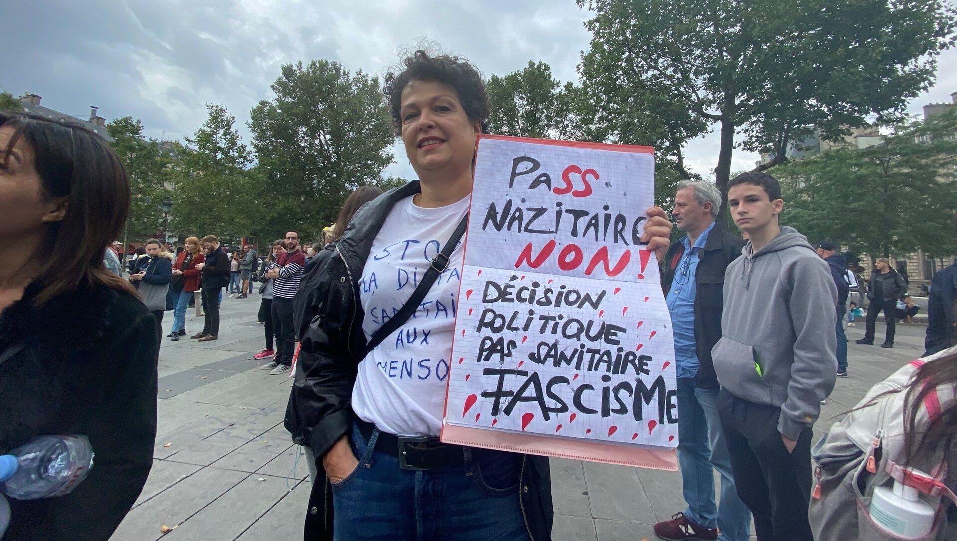 Manifestation non déclarée contre le pass sanitaire, Paris, le 14 juillet 2021 - Sputnik France, 1920, 19.07.2021