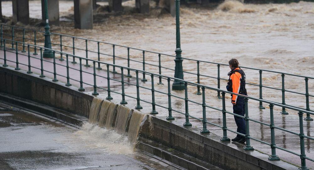 Inondations à Liège, Belgique, le 15 juillet