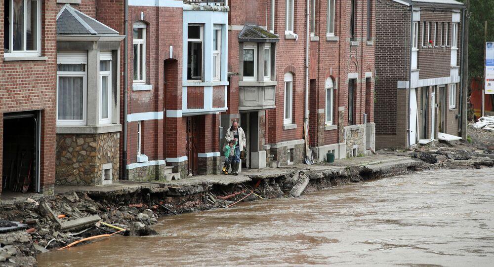 De fortes inondations en Belgique