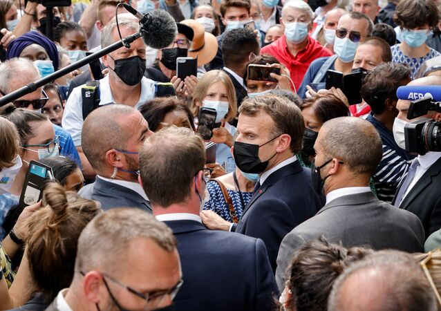 Emmanuel Macron à Lourdes, le 16 juillet 2021