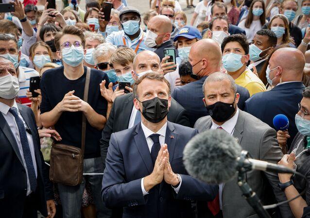 Emmanuel Macron à Lourdes