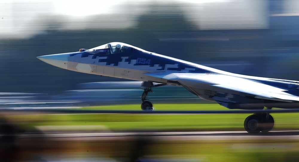 Un chasseur russe de cinquième génération Sukhoi Su-57