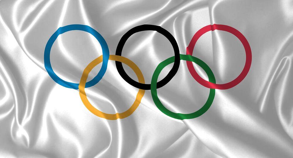 Le drapeau des Jeux olympiques