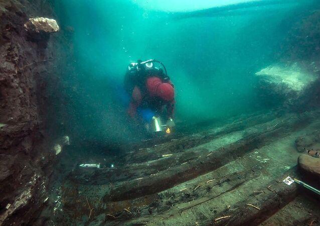 fouilles sous-marines à Héracléion