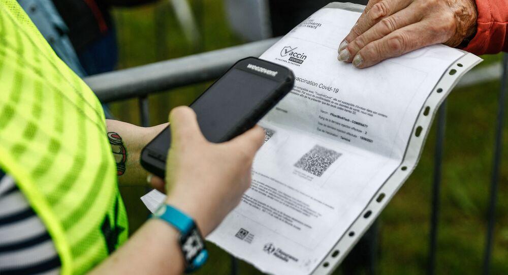 Un pass sanitaire (photo d'archives)