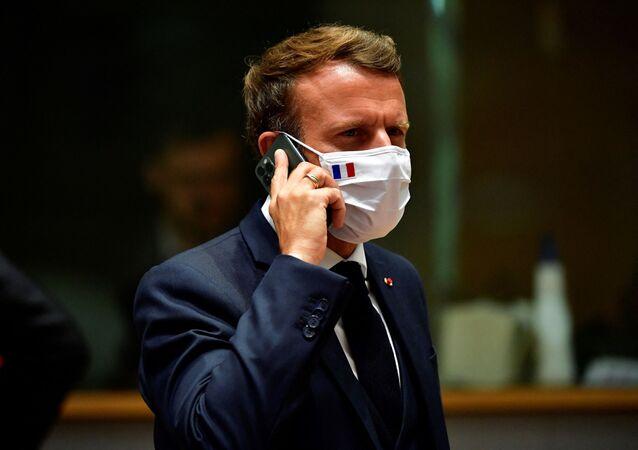 Emmanuel Macron, le 20 juillet 2020