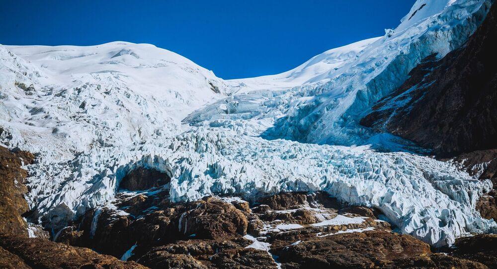 Un glacier dans le Tibet