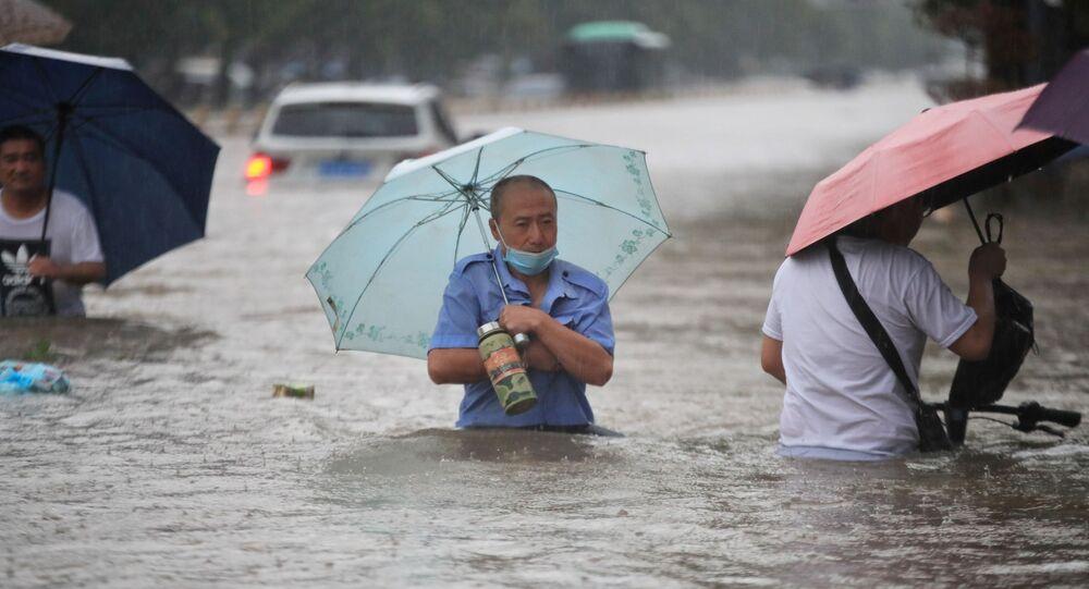 Les pluies diluviennes. Chine