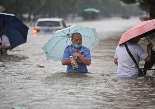 Des pluies torrentielles en Chine