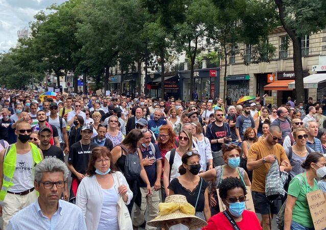 Manifestation contre le pass sanitaire à Paris, le 24 juillet 2021