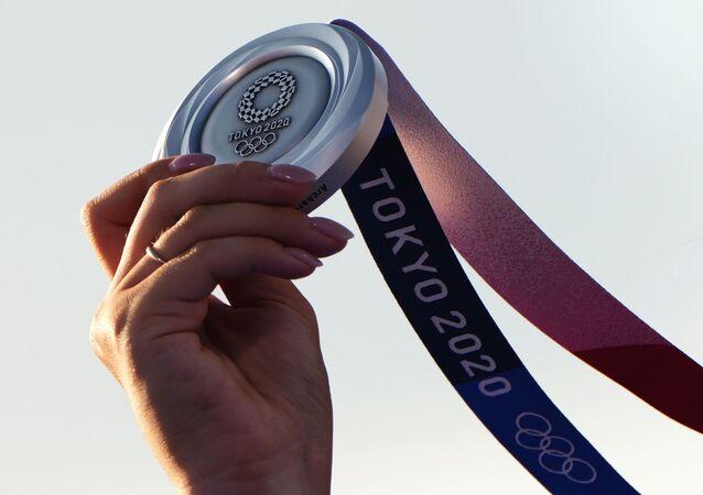 Médaille d'argent des JO-2020 à Tokyo