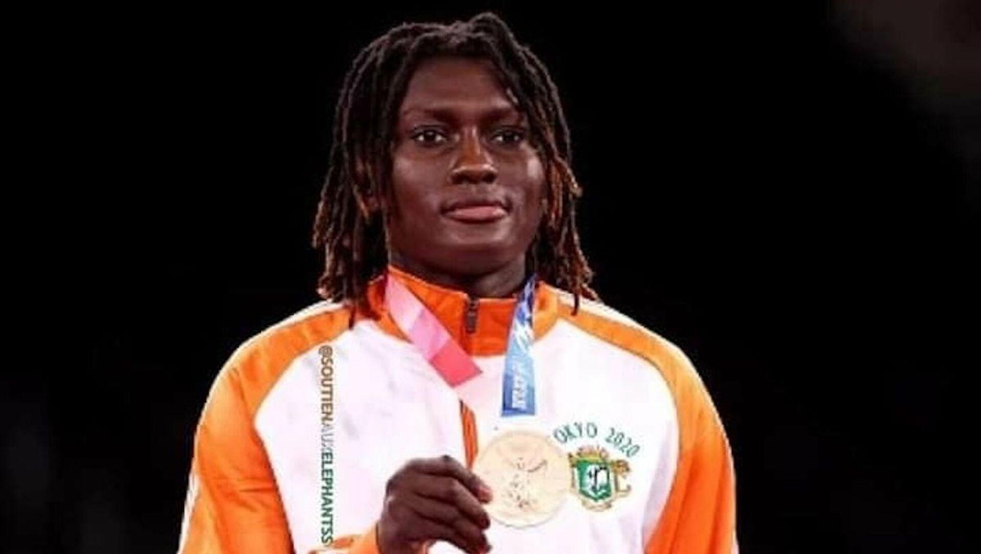 L'Ivoirienne médaillée de bronze de taekwando des JO 2021, Ruth Gbagbi - Sputnik France, 1920, 27.07.2021