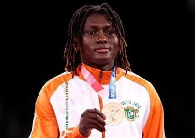 L'Ivoirienne médaillée de bronze de taekwando des JO 2021, Ruth Gbagbi