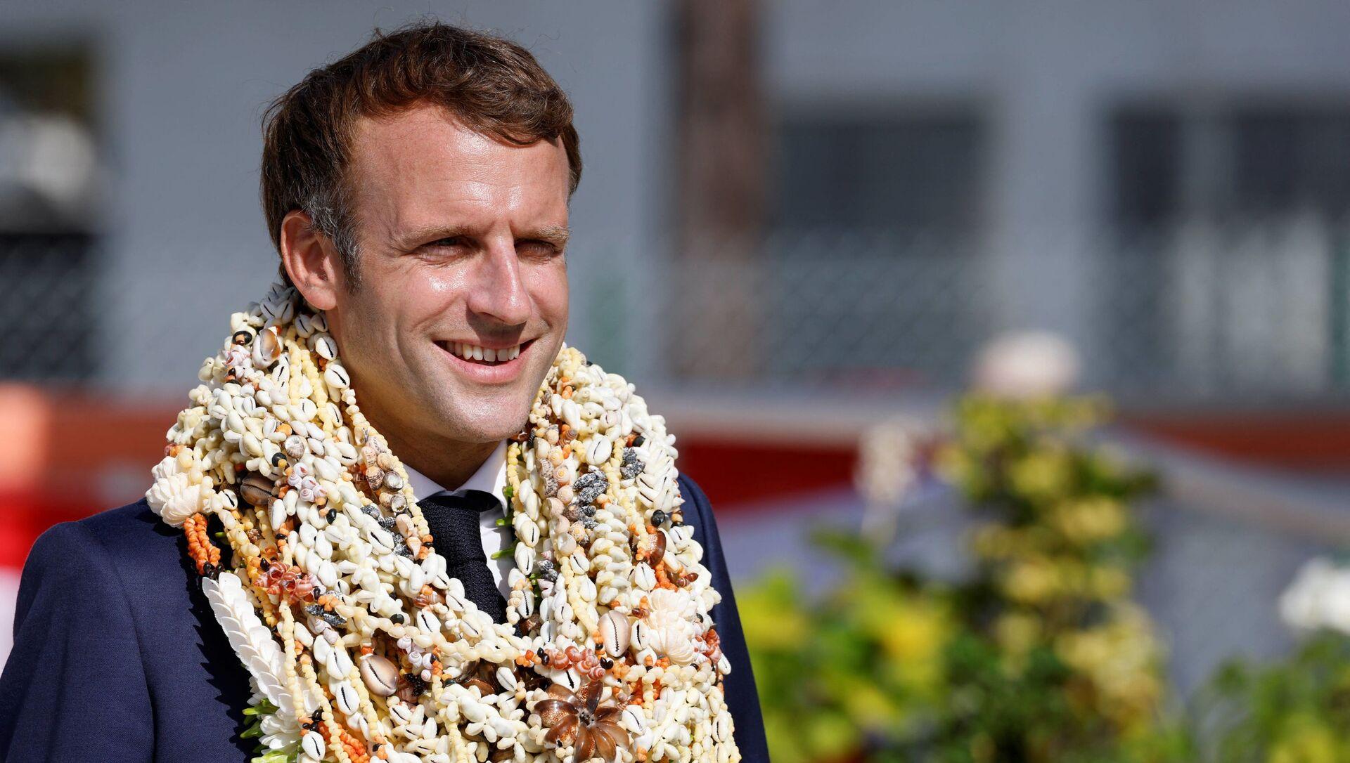 Emmanuel Macron en visite en Polynésie française, le 26 juillet - Sputnik France, 1920, 02.08.2021