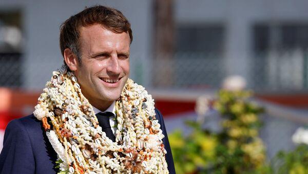 Emmanuel Macron en visite en Polynésie française, le 26 juillet - Sputnik France