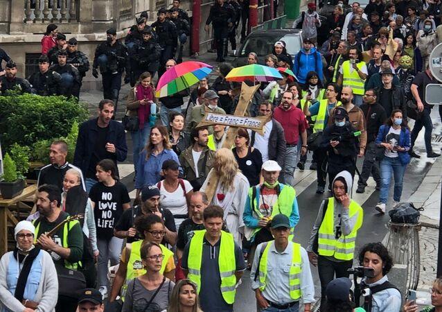 Manifestation contre le pass sanitaire à Paris, 27 juillet 2021
