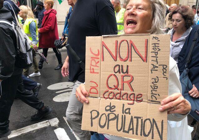 Manifestation contre le pass sanitaire (image d'illustration)