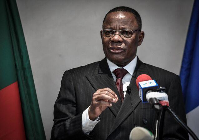 Maurice Kamto, leader de l'opposition camerounaise, lors d'une conférence de presse à Paris le 30 janvier 2020