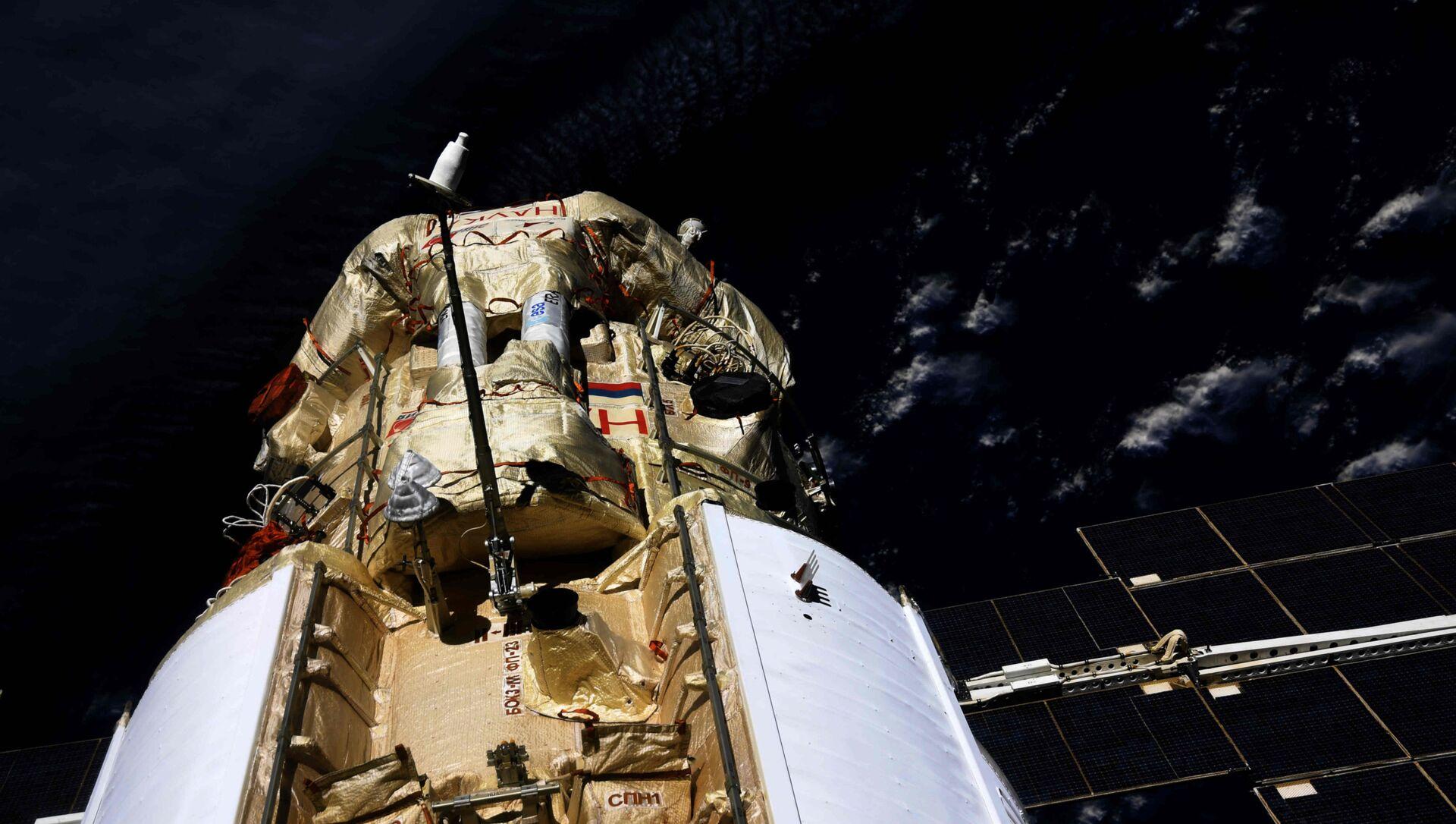 En mode automatique, le module scientifique Nauka s'est arrimé avec succès à l'ISS, le 29 juillet 2021 - Sputnik France, 1920, 01.08.2021