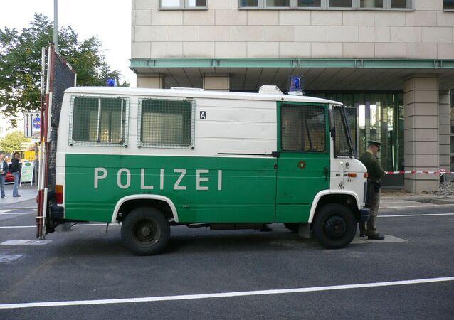 Un véhicule de police à Berlin (image d'illustration)