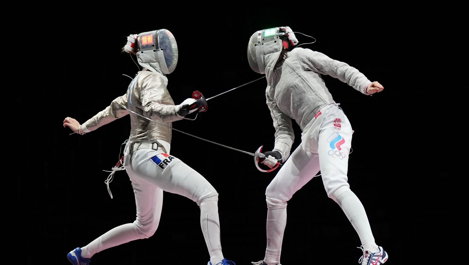 Finale Russie-France de l'épreuve de sabre par équipes aux JO 2020 - Sputnik France, 1920, 31.07.2021