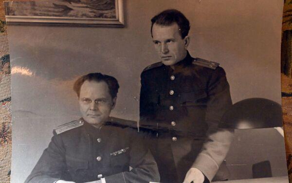 Membre soviétique du Tribunal, le général de justice Iona Nikitchenko et son adjoint, le colonel Alexandre Voltchkov - Sputnik France