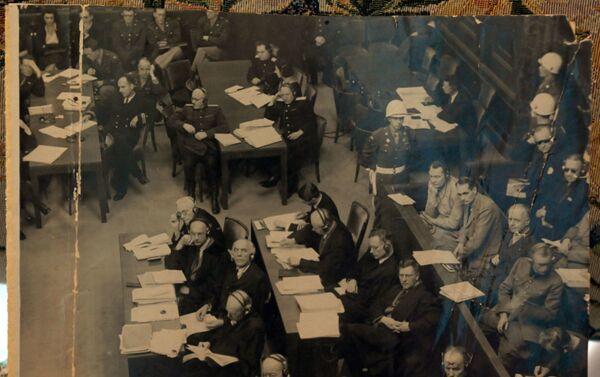 La salle du Tribunal militaire international. Photo de l'envoyé spécial de l'agence TASS Evguéni Khaldeï - Sputnik France