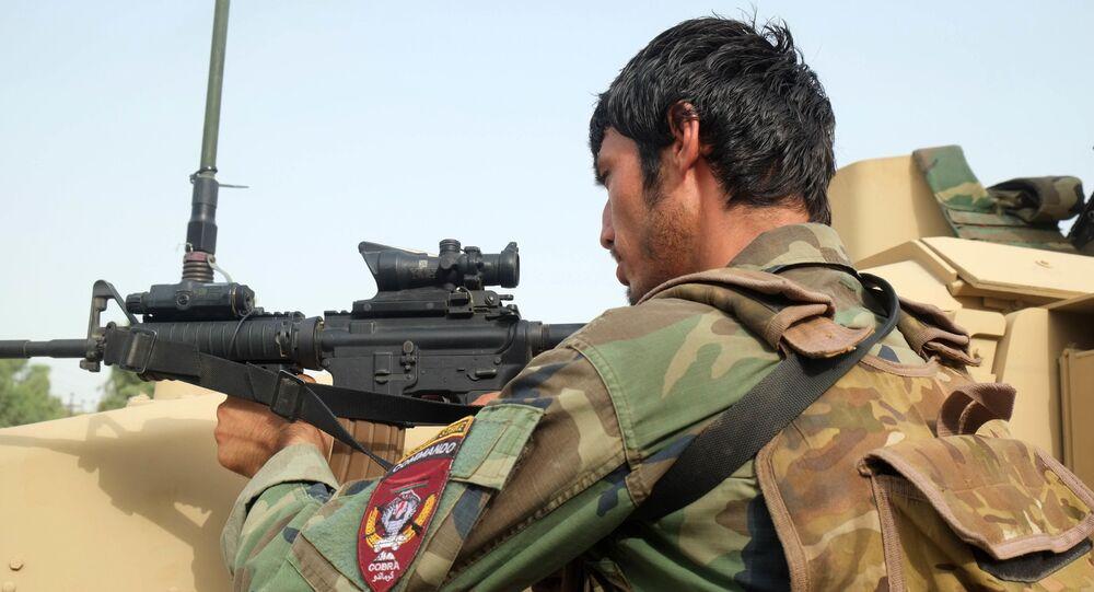 Un soldat afghan, juillet 2021