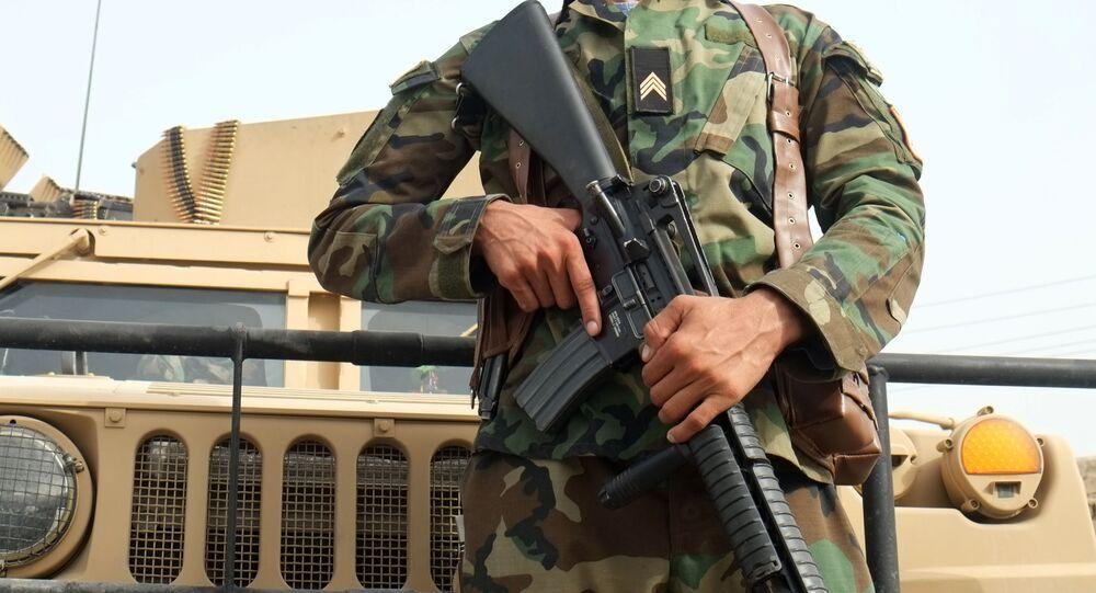 Un soldat afghan