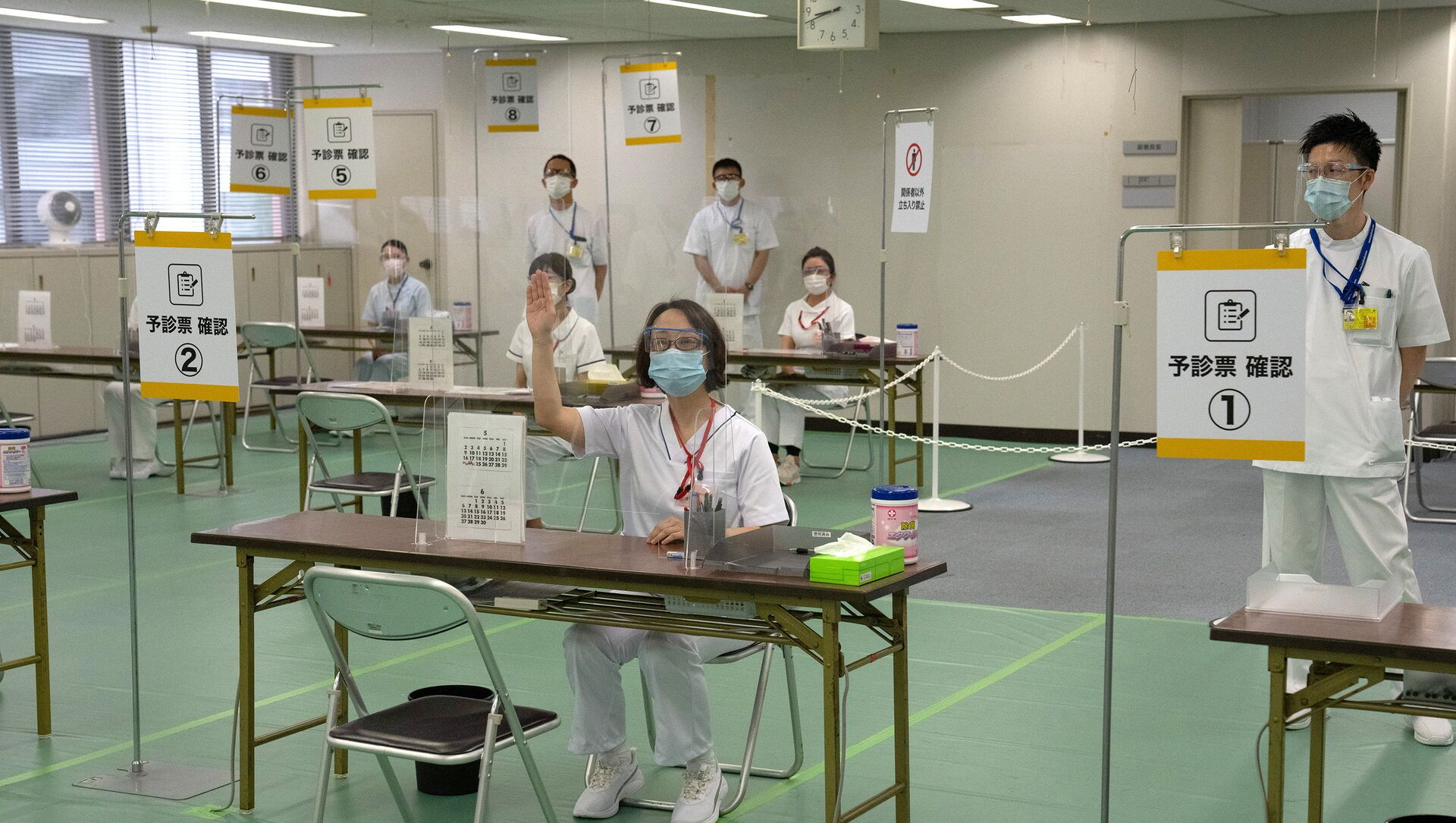 Centre de vaccination à Tokyo - Sputnik France, 1920, 17.08.2021